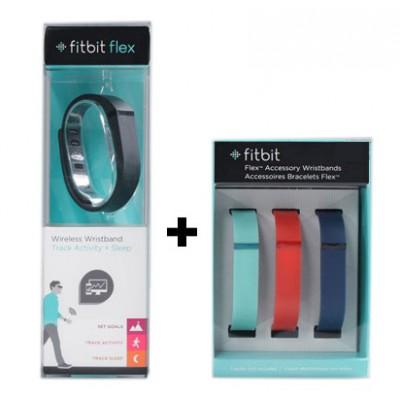 دستبند تناسب اندام بی سیم فیت بیت به همراه 3 بند اضافی Fitbit Flex wireless activity / sleep wristband with 3 extra wristbands