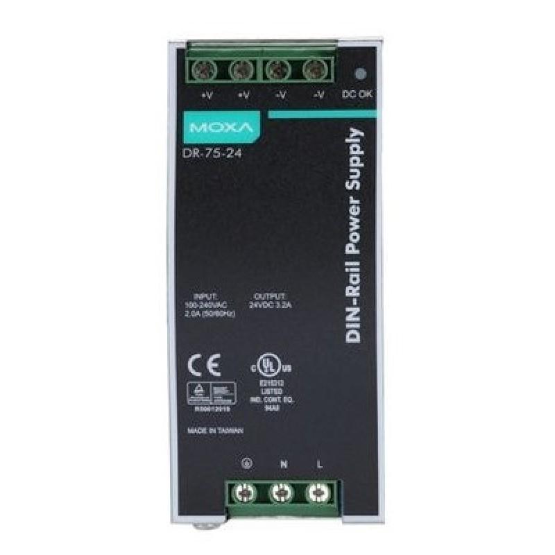 آداپتور صنعتی موگزا MOXA DR-75-24 DIN-rail Power Supply