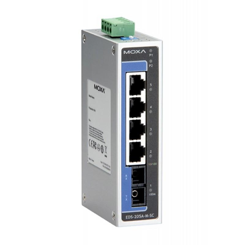 سوئیچ صنعتی موگزا MOXA EDS-205A-M-SC Unmanaged Ethernet Switches