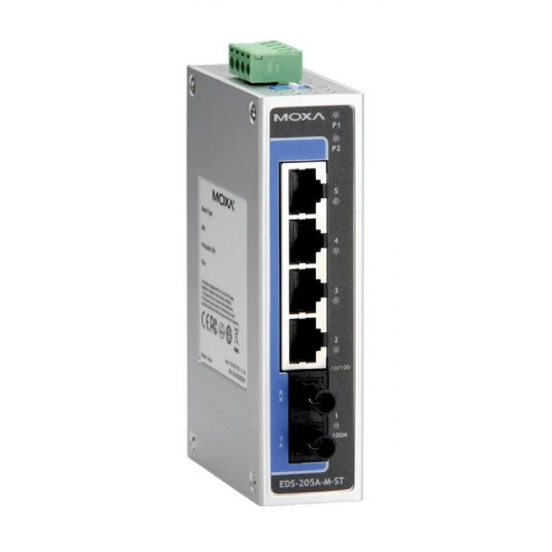 سوئیچ صنعتی موگزا MOXA EDS-205A-M-ST Unmanaged Ethernet Switches