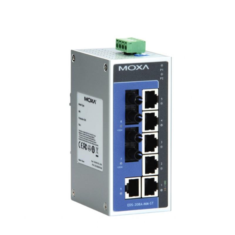 سوئیچ صنعتی موگزا MOXA EDS-208A-MM-ST Unmanaged Ethernet Switches
