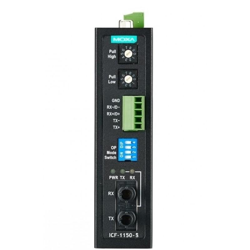 مبدل سریال به فیبر نوری صنعتی موگزا MOXA ICF-1150-S-ST Serial to Fiber Converter