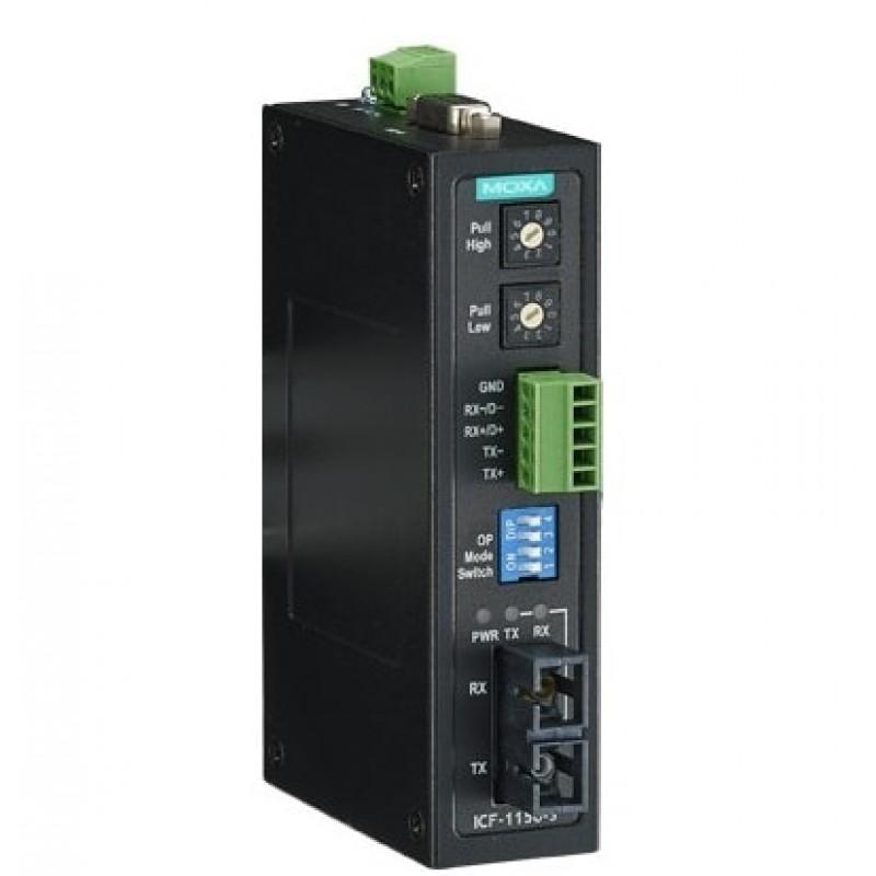 مبدل سریال به فیبر نوری صنعتی موگزا MOXA ICF-1150I-M-SC Serial to Fiber Converter