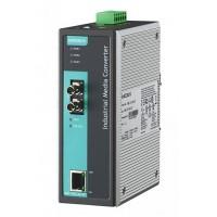مبدل اترنت به فیبر نوری صنعتی موگزا MOXA IMC-101-M-ST-T Ethernet to Fiber Converter
