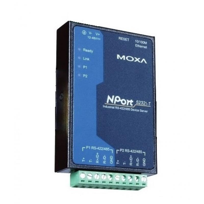 مبدل سریال به اترنت صنعتی موگزا MOXA NPort 5232I-T Serial to Ethernet Device Server