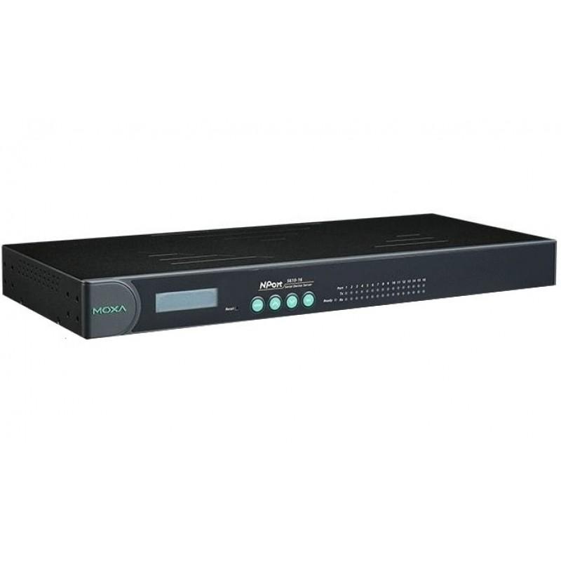 مبدل سریال به اترنت صنعتی موگزا MOXA NPort 5610-16-48V Serial to Ethernet Rackmount Serial Device Server