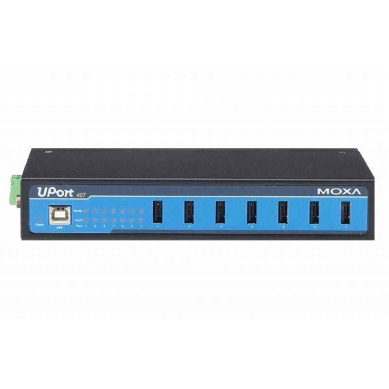 هاب USB صنعتی هفت پورت موگزا MOXA UPort 407 7-Port Industrial USB Hub
